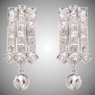 Platinum and Diamond Triple Arrow Earrings