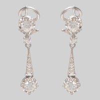 Brilliant Diamond Dangle Earrings