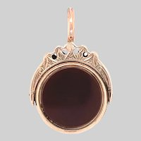 Antique Bloodstone and Carnelian Spinner Fob