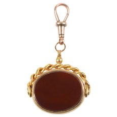 Antique Spinner Fob with Carnelian and Bloodstone
