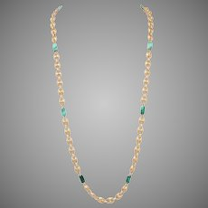 Malachite and Gold Necklace