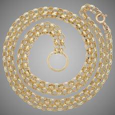 Custom Designed Belcher Chain with Split Ring Detail