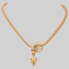 Antique Serpent Necklace