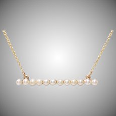 Bar of Pearls Necklace