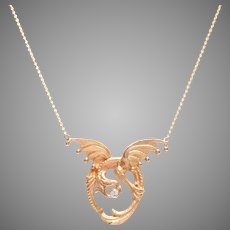Griffin Necklace in 18 KT Gold with Diamond Detail