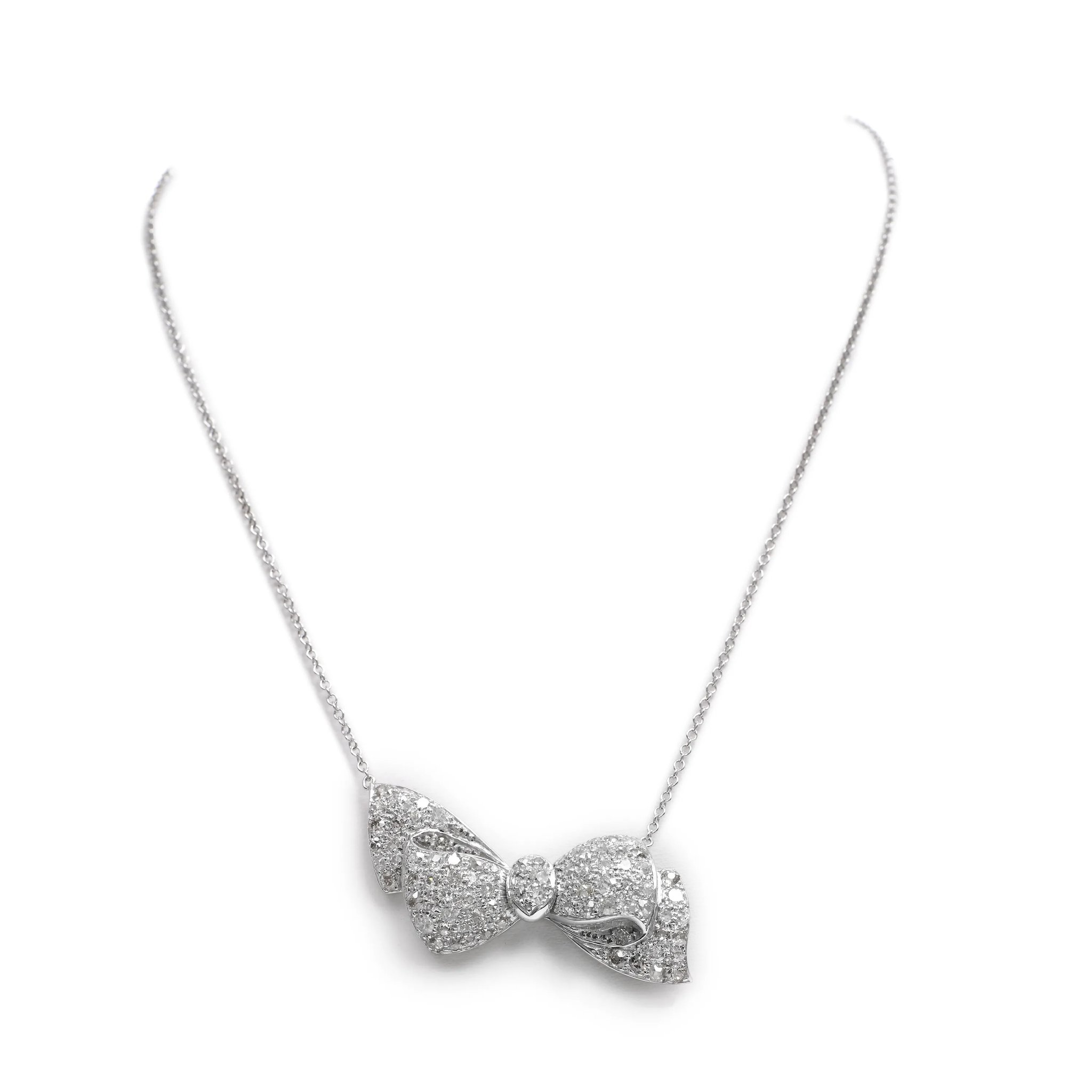 motif a necklace open diamond bow featuring pav collections graff