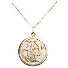 Vintage 14KT Gold Archer Necklace
