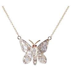 Diamond Butterfly on a Modern 14KT Gold Chain