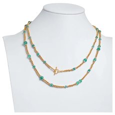 Exceptional Custom Made 14KT Gold Ball Necklace with Modern Emeralds and Diamonds