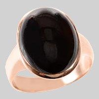 Victorian 14 KT Rose Gold Carbuncle Garnet Ring