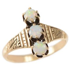 3 Stone Opal and 14 KT Gold Ring