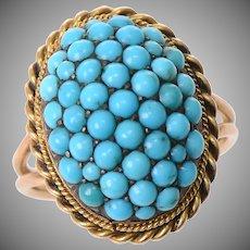 Bombe Turquoise Ring