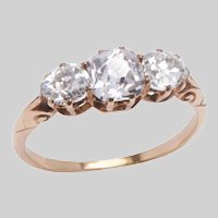 Antique 3 Stone Diamond and 18 KT Gold Ring