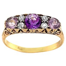 Antique Amethyst and Diamond Ring