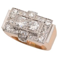 Fabulous Forties 18 KT and Diamond Ring