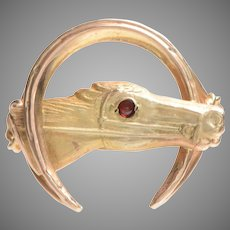 Horse Head and Horseshoe Handcrafted Ring
