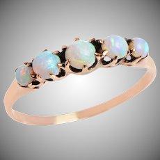 5 Stone Cabochon Opal Band