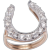 Victorian Diamond Horseshoe in a Modern set Ring