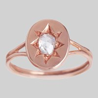 Antique Rose Gold and Rose cut Diamond Ring