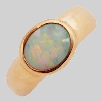 Vintage Opal in 14 KT Gold in a Handmade Setting