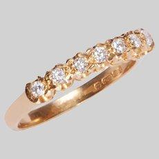 Vintage 18 KT and Diamond Ring / Wedding Band