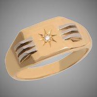 18 KT Gold Diamond Star Design Band