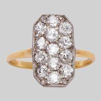 Edwardian 18KT Platinum and Diamond Ring