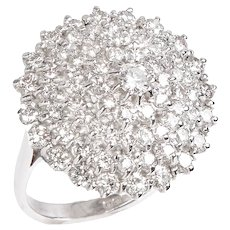 Diamond Elevated Dome Ring