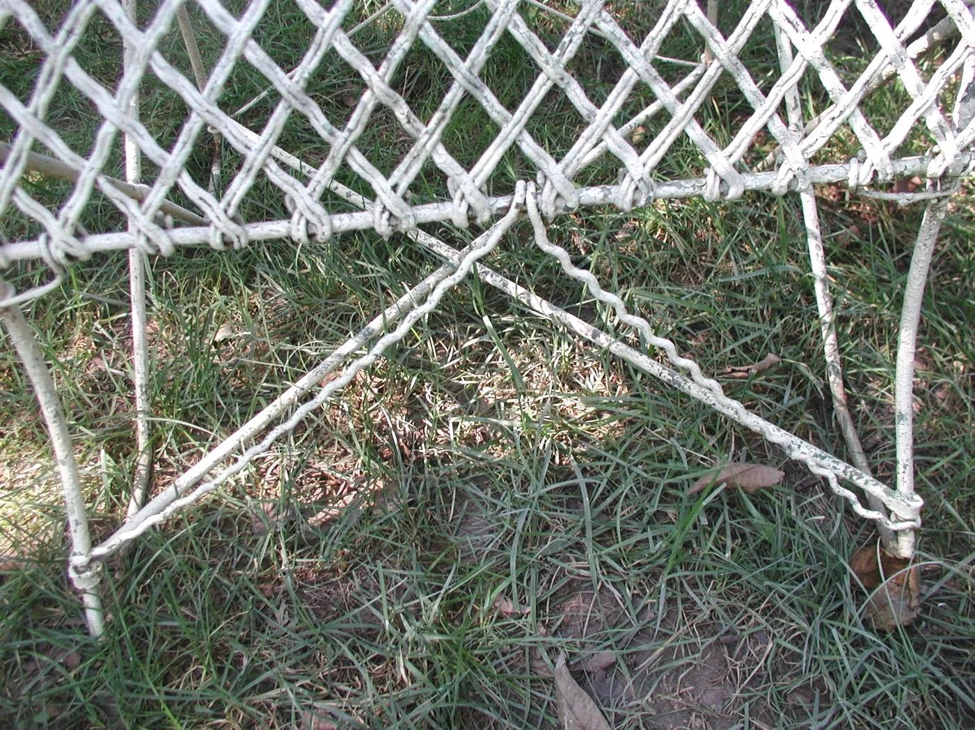 ... 19th Century French Wire Garden Settee Heirloom Traditions Ruby Lane  French Wire Garden Chairs 19th Century