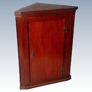 English Corner Cabinet C.1875 Mahogany Hand Made