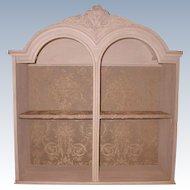 French Carved Shelf Unit Designer Upholstered Early 1900's