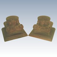 Walnut Plateau Capitals Hand Carved 19th Century