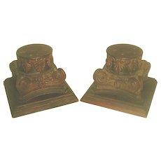 Walnut Plateau Capitals Hand Carved 19th Century