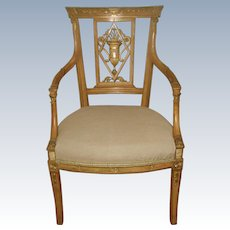 Italian Carved Desk/Occasional Chair Early 1900's