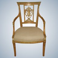 Italian Carved Occasional Chair Early 1900's