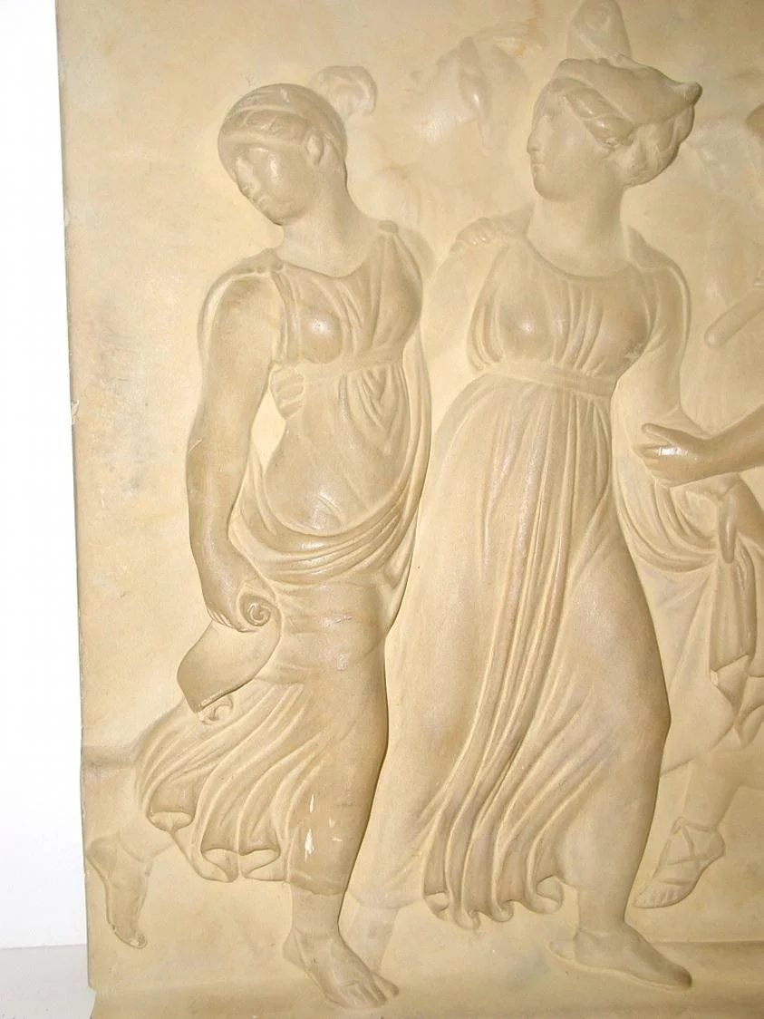Neoclassical Roman Plaque Plaster Wall Hanging : Heirloom Traditions ...