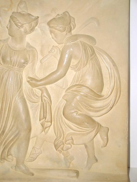 Neoclassical Roman Plaque Plaster Wall Hanging SOLD | Ruby Lane