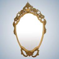 Carved Shield Design Mirror Ornate 20th C