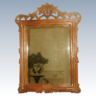 Carved Wooden Mirror 19th Century