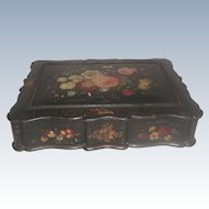 Vanity Chest Box Hand Painted 19th Century