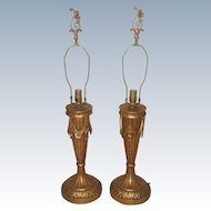 Italian Swag Lamps Gilt Rewired 20th Century