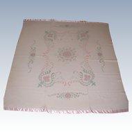 Vintage Decorative Wool Blanket Excellent Condition