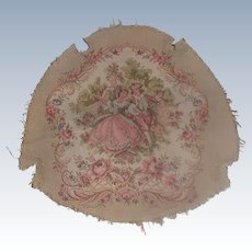 French Tapestry Chair Seat 20th Century
