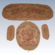 4 Piece French Tapestry for Settee & Chair Early 20th C