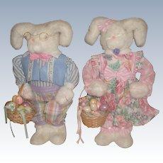 Plush Musical Easter Rabbit Couple