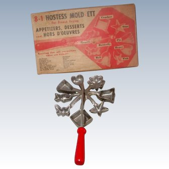 1950's Hostess Mold Set For Appetizers, Desserts or Hors D'Oeuvres