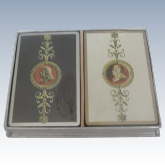 Two Decks Vintage Boxed Playing Cards Never Used