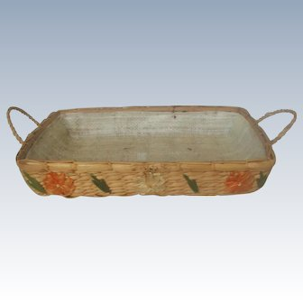 Decorative Rattan Serving Holder For Casseroles 20th C