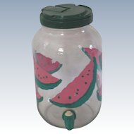 Watermelon Glass Beverage Dispenser With Spout