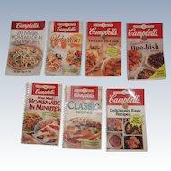 7 Campbells' Soup Recipe Books C.1998